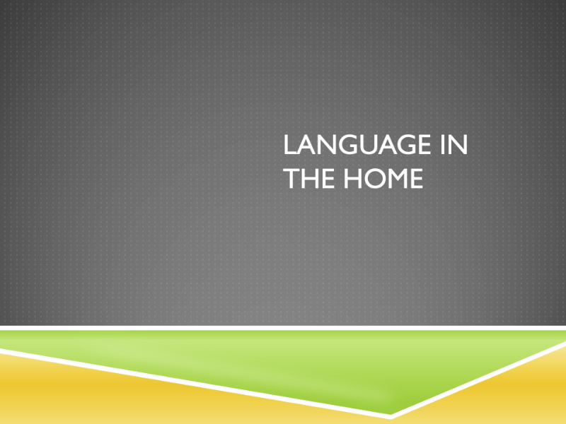 Language in the Home